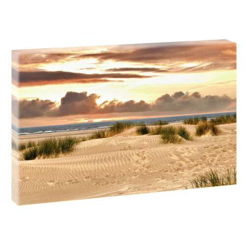 Bild Strand Meer Dünen Nordsee Leinwand  Poster XXL 120 cm*80 cm 608 Strand 5