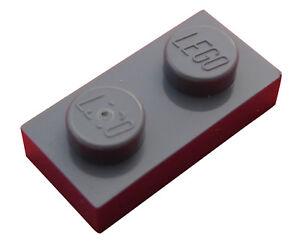 Lego-50-Stueck-Platte-1x2-dunkelgrau-3023-Neu-dark-bluish-gray-Plates-Platten