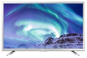 "Sharp 24"" White Smart HD Ready 720p LED TV Freeview HD Satellite HD USB Record"