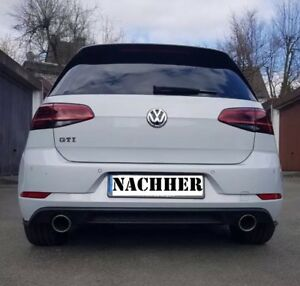 golf 7 facelift chappement sport gti gtd r line diffuseur. Black Bedroom Furniture Sets. Home Design Ideas
