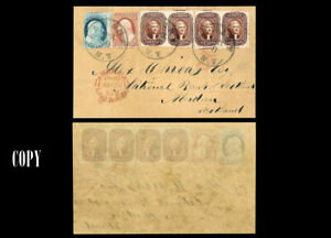 USA-1856-5-amp-ONE-1-Issue-FULL-COVER-TO-GREAT-BRITAIN-LUXURY-COPY