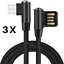 miniature 14 - Right Angle 90 Degree Android Charger Fast Charging Micro USB Cable 3/ 6/ 10 Ft