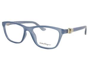 NEW-Salvatore-Ferragamo-SF2728-462-5316-Light-Blue-53mm-Eyeglasses