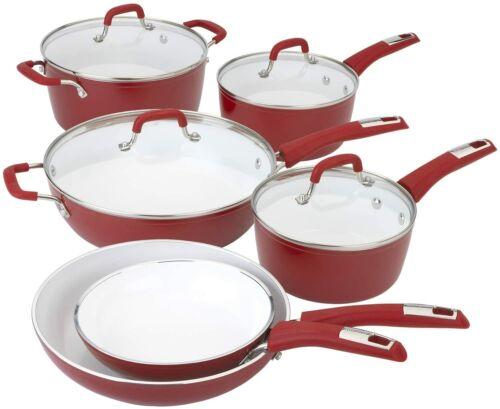 Bialetti Aeternum Titanium infused Ceramic Nonstick 10 Piece Cookware Set 07602