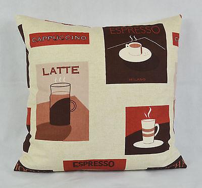 """CUSHION COVER 17""""x17"""" 43cm Sq Prestigious Expresso Brown Terracotta 100% Cotton"""