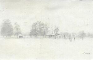 Joseph Clark - Signed Late 19th Century Graphite Drawing, Village View