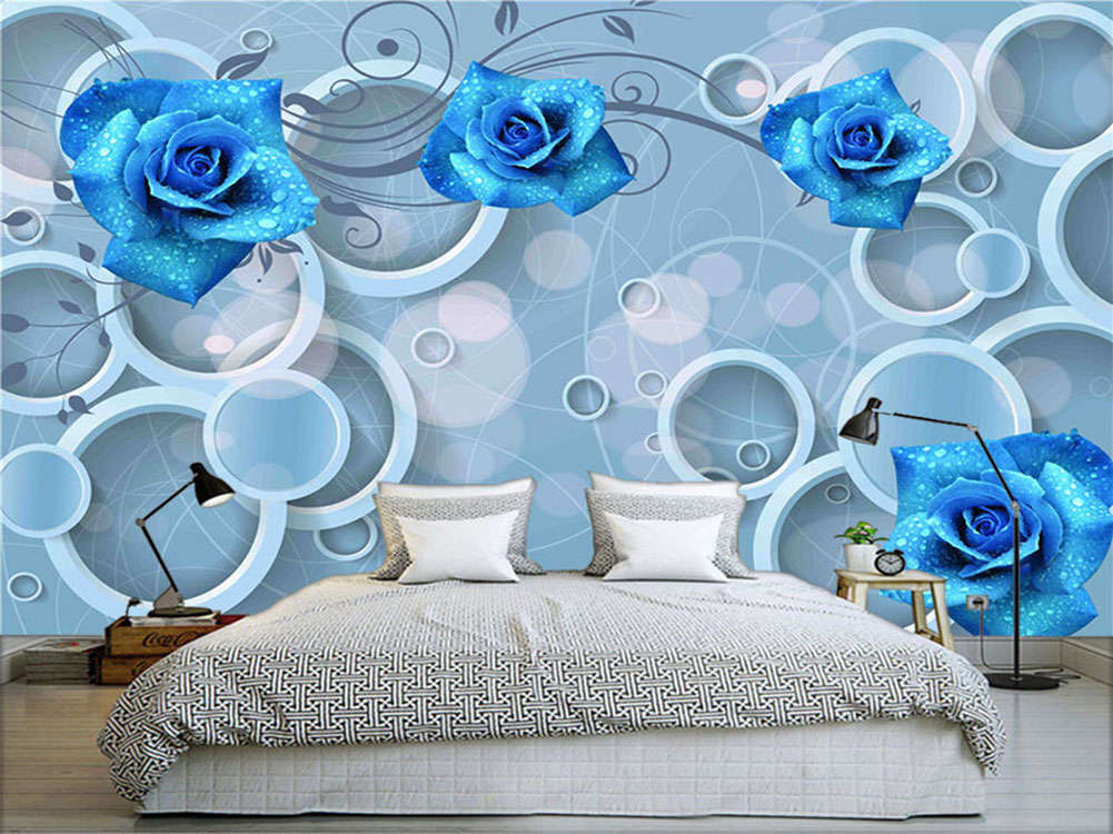 Azure Normal Lily 3D Full Wall Mural Photo Wallpaper Printing Home Kids Decor