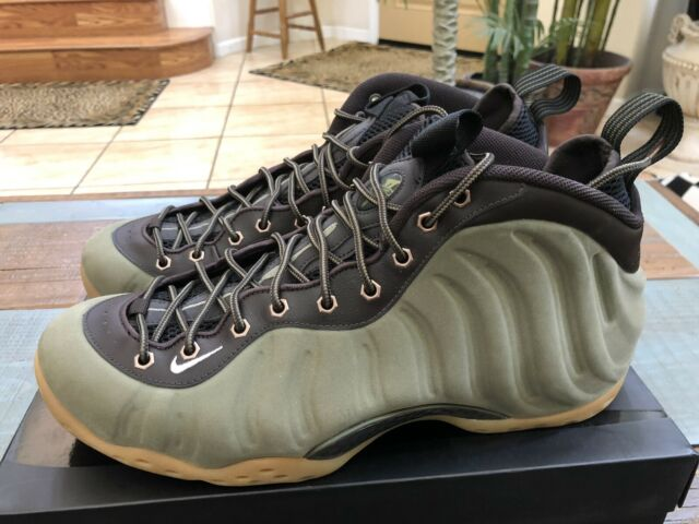 best cheap f7254 22f42 Nike Air Foamposite One PRM Olive Green Gum Suede 575420-200 Size 13 All  Star PE