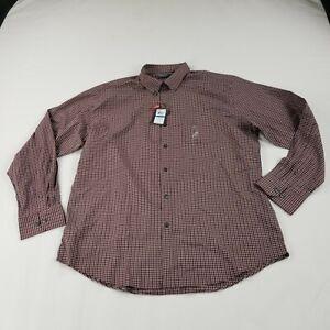 Van-Heusen-Flex-Men-039-s-Shirt-Classic-Fit-XL-17-17-5-Button-Front-Long-Sleeve
