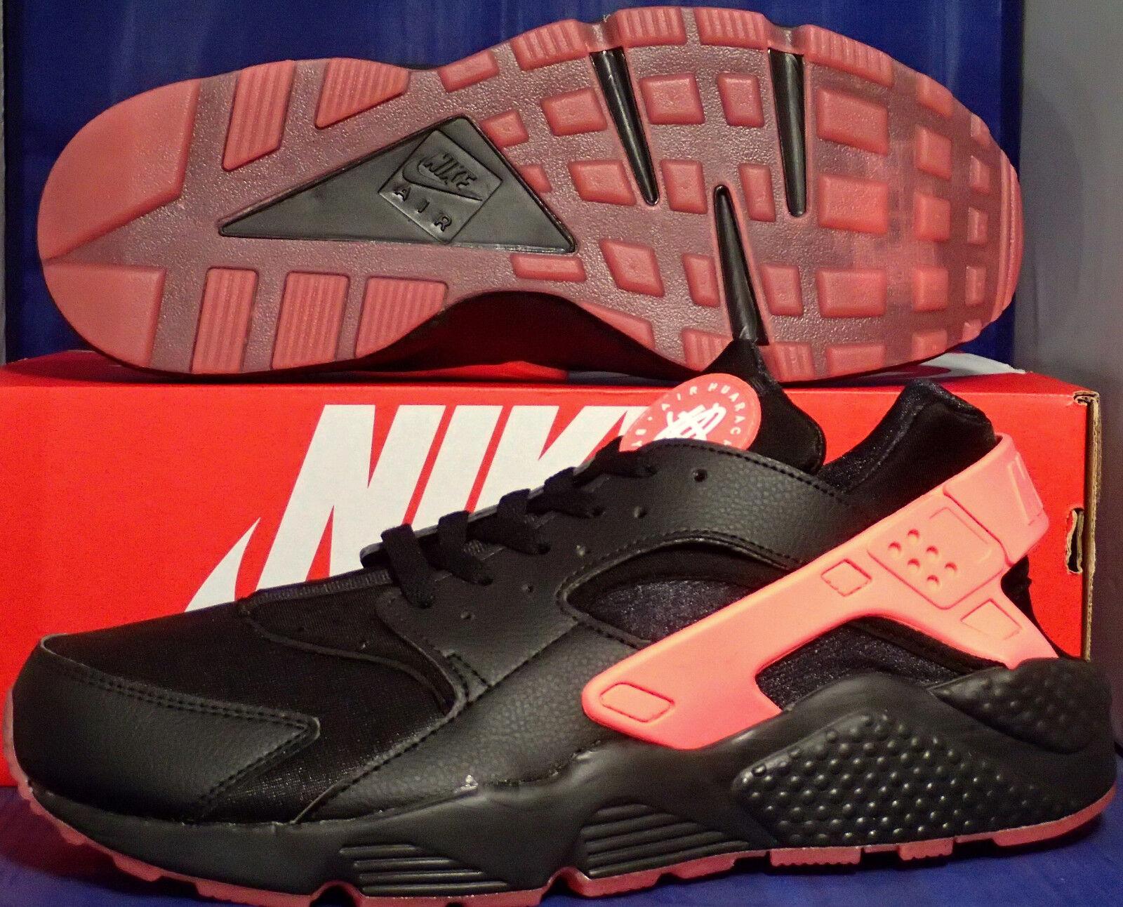 Nike Air Huarache Huarache Huarache Run iD Noir Hot Lava SZ 11.5 629b1f