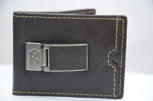 Fossil EDGE FLIP Eagle Genuine Leather Credit Card Holder Magnet Clip Wallet 359
