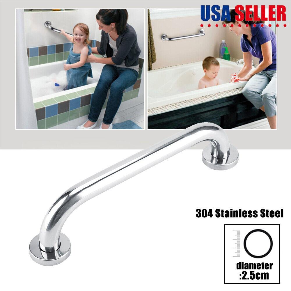 Bathroom Shower Grab Bar,Stainless Steel//Shower Handle//Support Handrail,Matte Black//Wall Mounted//Bathroom Balance Bar,Safety Hand Rail Support Bar