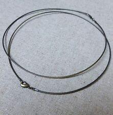 Antique bronze Brass Memory Wire Necklace Chain - 2 pcs