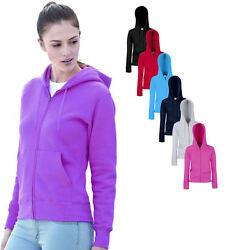 Fruit of the Loom Damen Kapuzen Sweatshirt Jacke verschiedene Größen und Farben