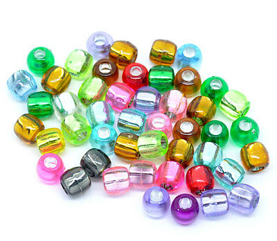 Wholesale Lots Mixed Multicolor Crafts Foil Pony Beads 7x7mm