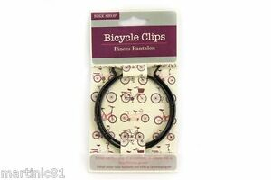 BICYCLE-BIKE-TROUSER-CLIP-BLACK-CLIPS-CYCLE-SAFETY-LEG-CYCLING-HOLDER-STRIPS