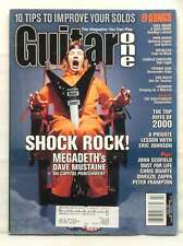 GUITAR ONE MAGAZINE DAVE MUSTAINE MEGADETH METALLICA February 2001 10 tips