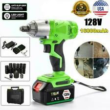 Led 12 Cordless Electric Impact Wrench Rattle Nut Gun Kit With Li Ion Battery