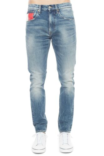 TOMMY JEANS Men/'s light stone wash 1988 jeans