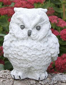 figurine en pierre chouette statuette décorative de jardin sculpture ...