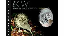 1 $ Dollar Great Spotted Kiwi Neuseeland  2016 1 oz Unze Silber Silver Blister