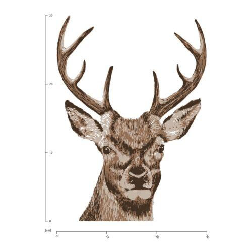 Stag Head Woodland Animals Wall Sticker WS-45427