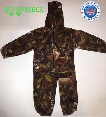 TrailCrest Toddler Camo Two Piece Fleece Jacket /& Pants Set