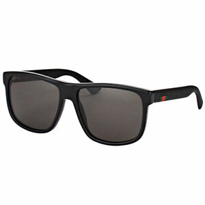 cd268dfd952 Image is loading New-Authentic-Gucci-GG0010S-001-Black-Plastic-Rectangle-
