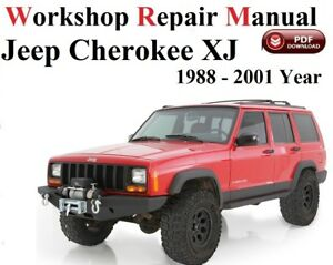 jeep cherokee xj 1988 2001 workshop manual service repair ebay rh ebay co uk 1988 jeep cherokee manual transmission 1987 Jeep Cherokee