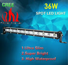 36W CREE LED Light Ultra Slim Spot Work Fog Driving Lamp Off-road Jeep Truck SUV
