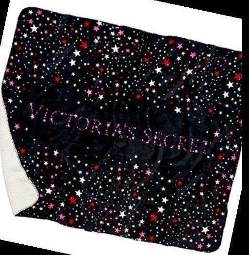 BRAND NEW SHERPA STARS BLANKET Victoria's Secret SHIPS FREE