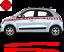 Renault-Twingo-Bandes-Zebres-Stickers-adhesifs-decoration-couleur-au-choix miniature 11