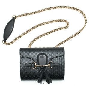 2a4ba21ed9e1 Image is loading Gucci-Micro-Guccissima-Soft-Margaux-Black-Leather-Shoulder-