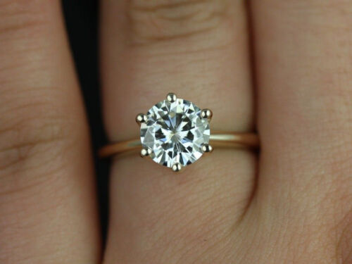 0.50 ct BRILLIANT Round CUT SOLITAIRE ENGAGEMENT RING REAL 14K Yellow GOLD