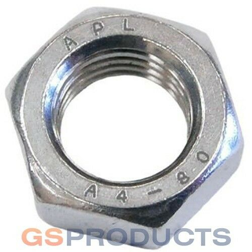 M10 Stainless Steel A4-80 Hex Nut FREE P+P!