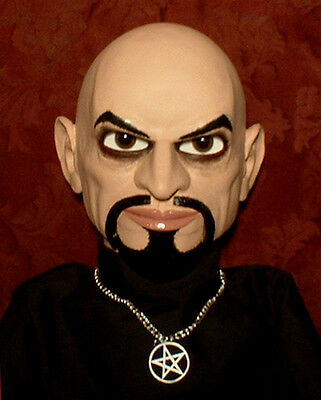HAUNTED Ventriloquist doll EYES FOLLOW YOU! Anton LaVey dummy puppet prop OOAK