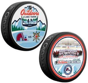 Colorado Avalanche Lake Tahoe NHL Outdoors Official Souvenir Pucks (2-Pack)