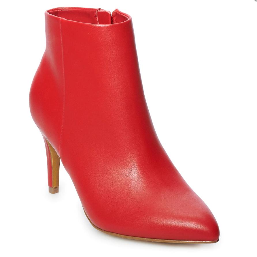 Ausverkauf Nwt Damen Apt. 9 Uhr High Heels Stiefeletten Größe Wählen Rot