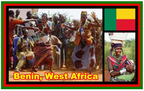 BRAND NEW GIFT SOUVENIR NOVELTY FRIDGE MAGNET BENIN WEST AFRICA