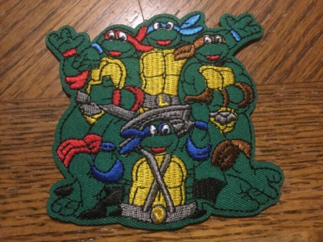 40 Pcs Embroidered Iron on Patches Cartoon Mutant Turtles AP013eD