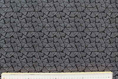 weiß-schwarz 150cm Baumwoll-Jersey Dreiecke