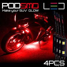 Led Rock Underbody Neon Lights Motorcycle Red Glow Kit For Suzuki Gsxr 1000