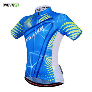 Mens-Cycling-Jersey-MTB-Road-Team-Bike-Riding-Short-Sleeve-Tops-Shirt-Breathable