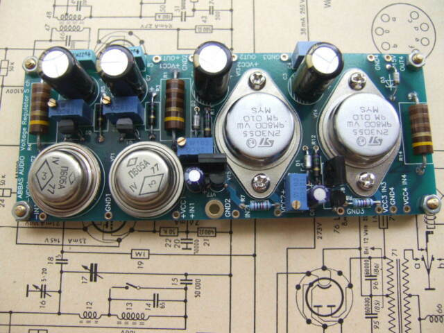 Voltage reg.PC board TDA1541,PCM58,PCM63,AD1862