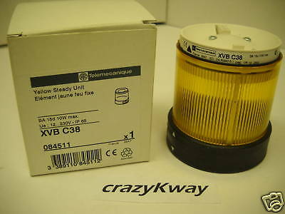TELEMECANIQUE MODEL XVBC38 YELLOW STACKLIGHT 084511 NEW