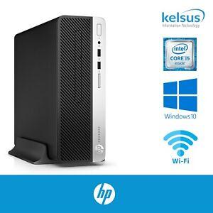 HP ProDesk 400 G5 SFF i5-8500 8th Gen 8GB RAM 256GB SSD NVME Windows 10 Pro WiFi