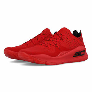 6b98b66425a1 Under Armour Mens Curry 4 Basketball Shoes Red Sports Breathable ...