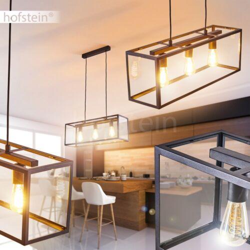 Retro Pendel Leuchten Hänge Lampen schwarz Wohn Schlaf Ess Zimmer Beleuchtung