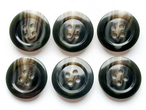 Beige Hohe Qualität 20 k47 6 Knöpfe Knopf Kunststoff 19mm Farbe Dunkelgrün