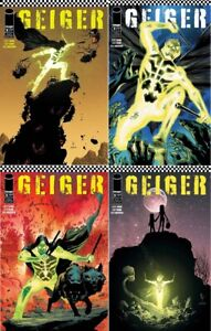 GEIGER #2 4-BOOK SET NM SCAVENGERS OUTLAWS RADIOACTIVE WASTELAND IMAGE COMICS